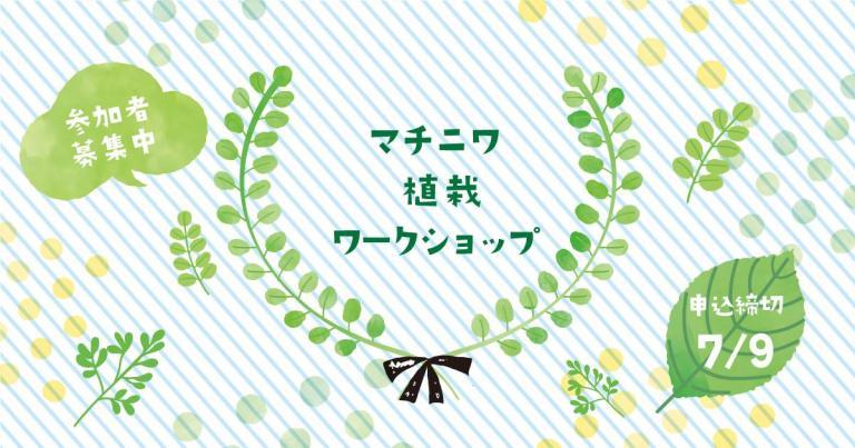 参加者募集中☆植栽ワークショップを開催します!